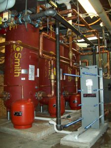 Water and HVAC system pipes and tanks