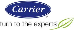 Carrier HVAC advertisement logo