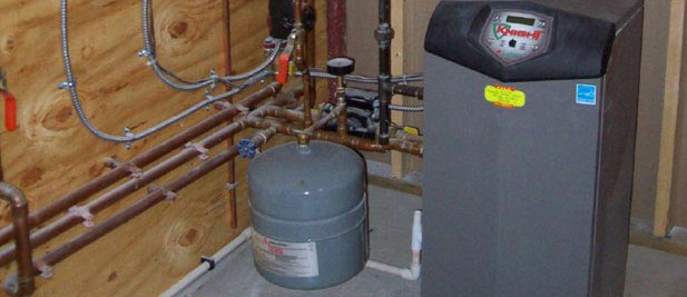 HVAC System and plumbing pipes