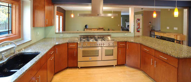 Newly remodeled kitchen
