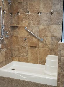 Newly remodeled bathroom shower