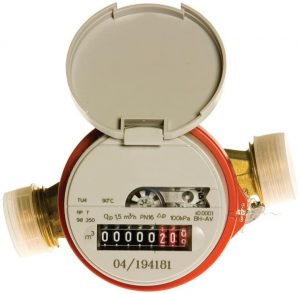 Water meter describing water leaks
