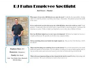 RJ Kuhn Employee Spotlight Graphic